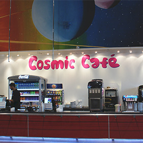 Eat at the<br />Cosmic Cafe